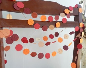 Copper, Orange and Claret,Fall Garland, Holiday Garland, Wedding Garland