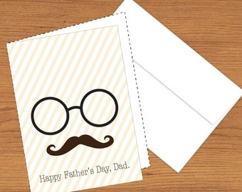Mustache Father's Day Cards