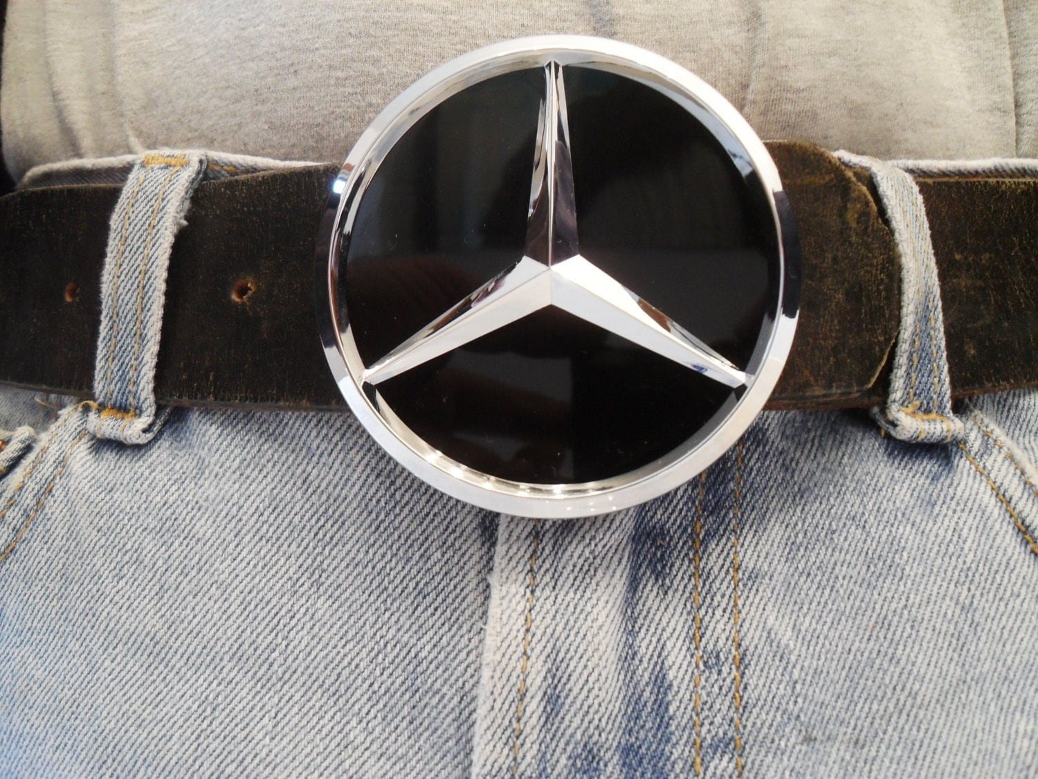 mercedes benz belt buckle gearhead automotive car by torquetoy