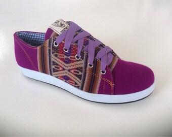 PANCHO'S FOOTWEAR – Women's  Light Purple Low Top Sneakers