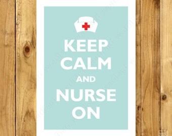 Nurse Gift | Nursing Student Gift | Nurse Graduation Gift | Nurse Practitioner Graduation | Keep Calm Nurse On | Nursing Graduate Gift
