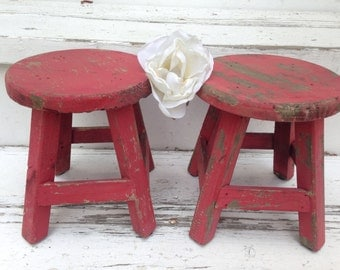 Table, Shabby Chic Table, Plant Stand, Set of 2