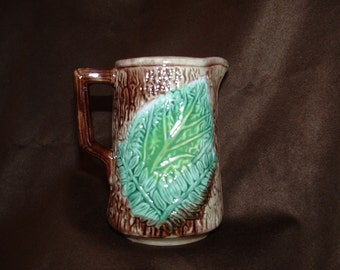 Majolica Pitcher Etsy