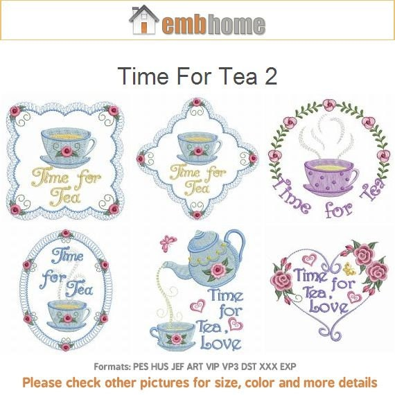 Time For Tea 2 Kitchen Machine Embroidery Designs Instant