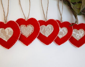 Heart Ornaments Heart Wall Decor Wall Hangings Valentines Day Home Decor