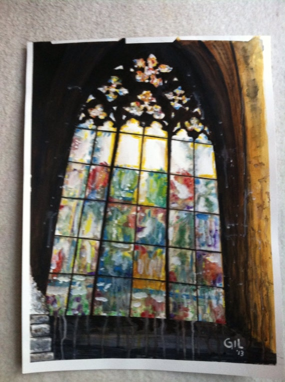 Items similar to stained glass cathedral window 18 x 24 for 18x24 window
