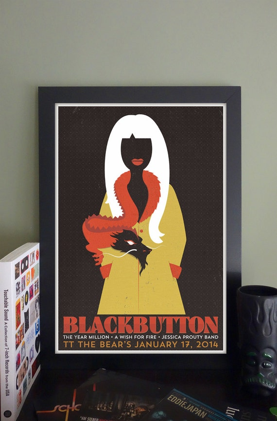 "Blackbutton Gig Poster // TT the Bear's Place, Cambridge, MA 13""x19"""