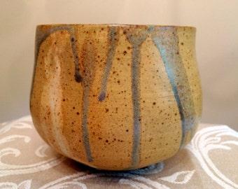Handmade Ceramic Bringle Yellow and Celedon Bowl