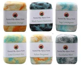 All Natural Alpaca Felted Soap