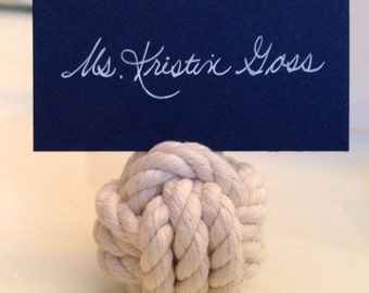 Nautical Placecard Holders - Perfect for Weddings, Parties and Special Events - Set of 8 Nautical Rope Placecard Holders