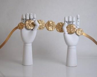 GABBY: Leather Belt Gold Belt