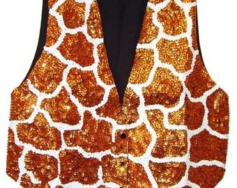 Sequin Vest Giraffe
