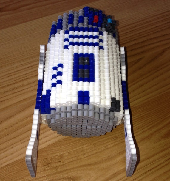 R2 D2 Star Wars Inspired Perler Bead 3d Art By Slabbinckdesigns