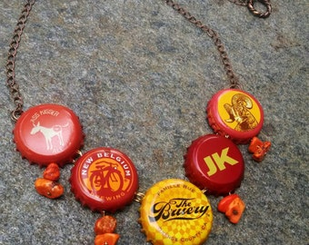 One Hot Tamale beer cap necklace
