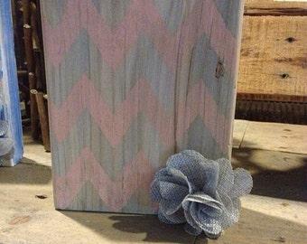 Wood block photo holder frame