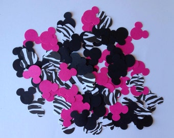 100 Minnie Mouse zebra confetti party decoration