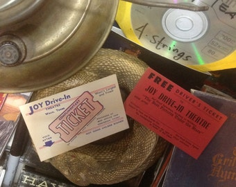 1950s Joy Drive In Movie Waco Texas 2 Tickets  (one pair)