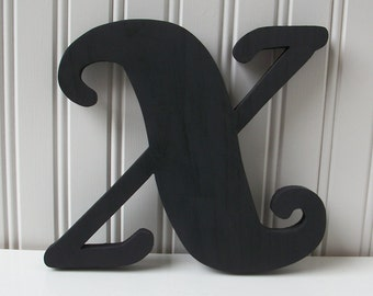 Wood Letter Sign - Painted Wood Sign Letters A through Z - Made to Order
