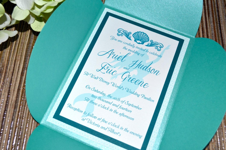 Fairy Tale Wedding Invitations The Little Mermaid Petal