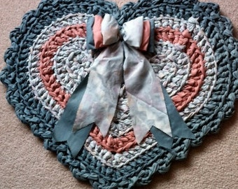 Heart Rag Rug Pattern