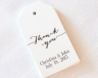 Thank You Tags, Customized Wedding Tags, Custom Wedding Favor Tags  (MLT-9)