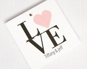 Wedding Favor Tags, Love Wedding Tags, Love Wedding Hang Tags  (SQ-023)