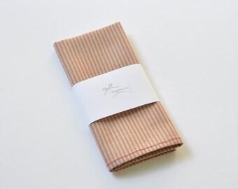 Pastel Pocket Square. Beige Pocket Square. Stripe Pocket Handkerchief. Red Pocket Hanky