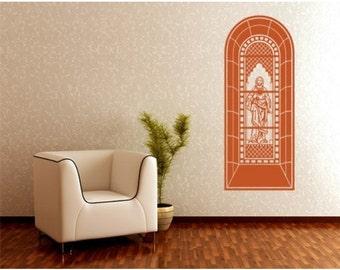 Church Window wall decal, sticker, mural, vinyl wall art