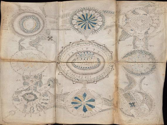 Voynich Manuscript Facsimile Voynich Manuscript 6 Page