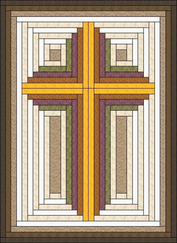 Log Cabin Built Christian Cross Multiple Sizes By