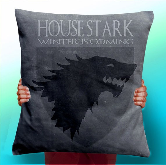 Game of Thrones House Stark Winter Is Coming Dire Wolf  - Cushion / Pillow Cover / Panel / Fabric