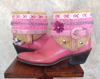 ACME upcycled western cowboy boots womens size 7 1/2 A