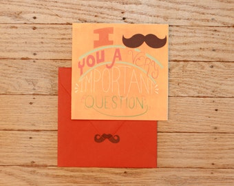 Funny (and snarky) Thank You Mustache Card