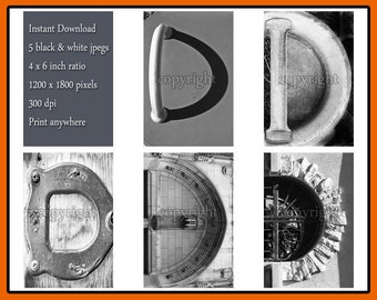 Letter D alphabet photography instant download of 5 different jpeg images - DIY letter photo framed names - scrapbooking alphabet photos
