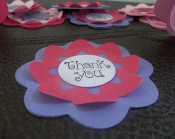 Thank you Tag/ Flower tag/ Favor tag/ Flower note / Thank you Flower Tag Set of 12