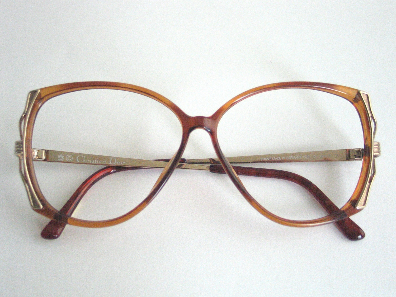 Dior Glasses Frame 2015 : Christian Dior brown elegant eyeglasses frame. Vintage ...