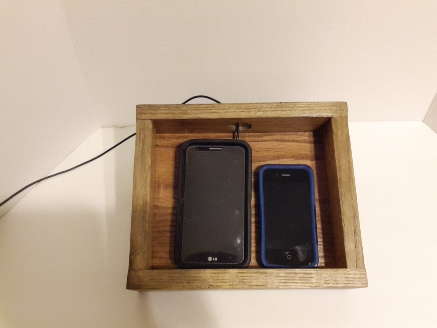 Cell phone charging station wood charging station cell phone Cell phone charging station