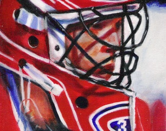 ROY IN RED, Patrick Roy, limited edition art print artwork 8&1/2 x 11   #57/100