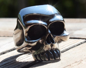 925 Sterling Silver Skull Ring By Philipp Mann Customs  Number1