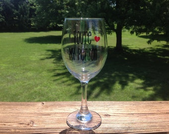 You're My Person 20 oz. Wine Glass