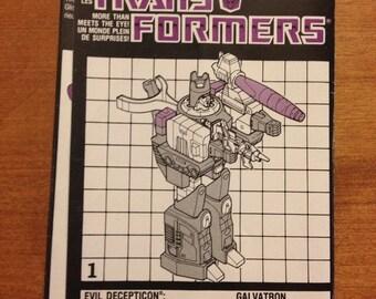Vintage Transformers Galvatron Instruction Booklet 1986 Decepticon Galvatron