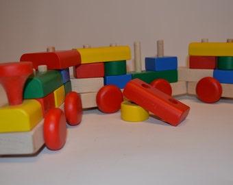 Train with blocks