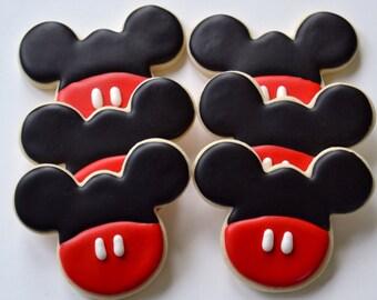 Mickey Mouse Cookies - One Dozen