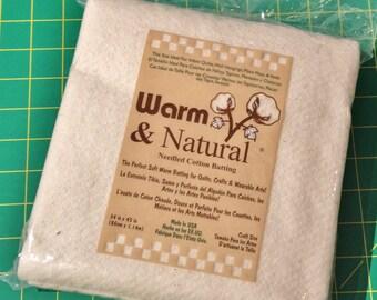 "Warm & Natural Needled Cotton Batting Craft Size 34"" x 45"""
