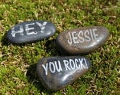 Personalized Pebble Pocket Rock Engraved With Your Name or a Loved Ones Name