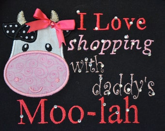 I Love Shopping with Daddy's Moo-Lah Dress