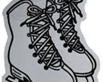 Woodbury Pewter Christmas Ice Skates Handcrafted Ornament Personalized Engraved Holiday Gift Souvenir Decor
