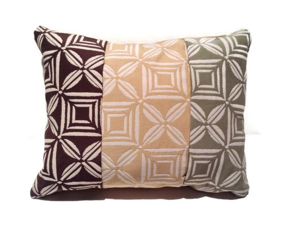 Decorative throw pillow brown beige green home decor toss
