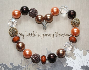 Autumn Spice Chunky Necklace-Bubblegum Necklace-Baby-Toddler-Girls-Women