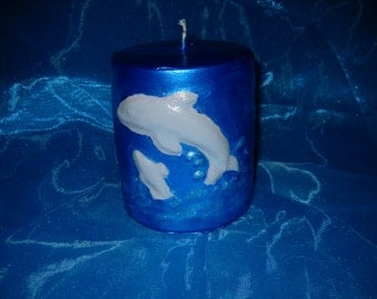 Dolphin Candle-sea candle-ocean-dolphin candle-
